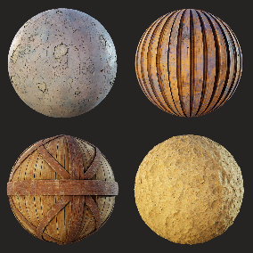 8 PBR stylized Wasteland materials