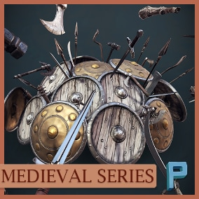 17 stylized weapons.