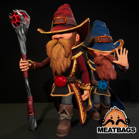 Game ready Stylized Wizard / Mage character, fully animated [Anim]