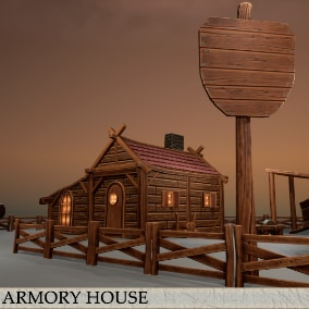 Pack of stylized environments props for RPG\HORROR or another  type of games