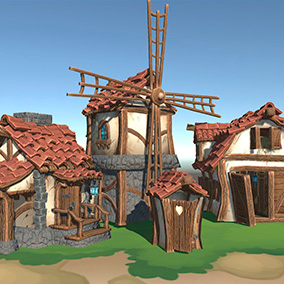 Low-poly 80 stylized objects for construction farm.