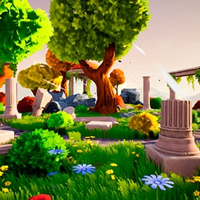Stylized ruins is designed to create different fantasy scenes.