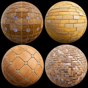 """Stylized tile"" pack of 30 PBR Materials"