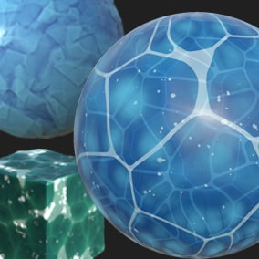A pack of stylized  water and Ice materials