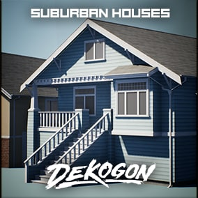 A collection of suburban houses that can be used for games!