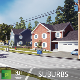 Suburbs is our friendly neighbourhood pack. With classic single family homes based on mid western America, this pack should fit all your suburban city needs.