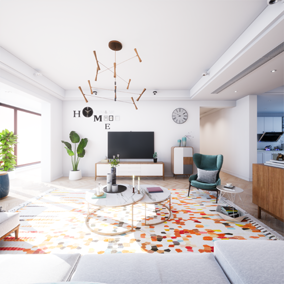 The name of this architectural visualization project is SunnyDay and the project contains a lot of optimized resources. You can use these resources to quickly create different scenarios.