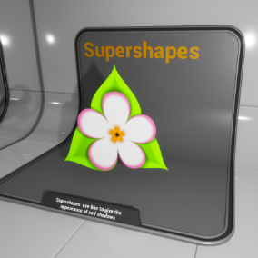 Material Function library that uses the 'Superformula' to draw interesting shapes.