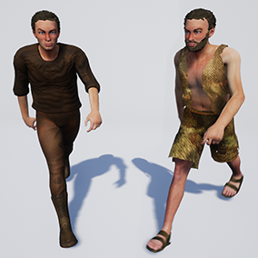 Male character with assets and facial rig