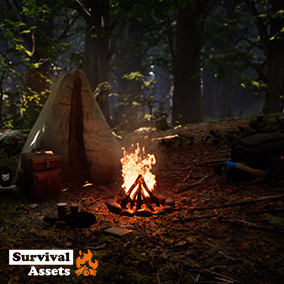The Survival Asset Pack has 26 realistic assets with 43 Skins to help bringing Your Survival Game to live!