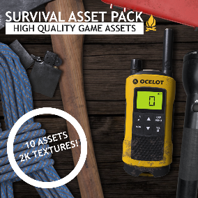 The Survival Asset Pack has 10 realistic, highly detailed assets for that first person survival game you've always wanted to make.