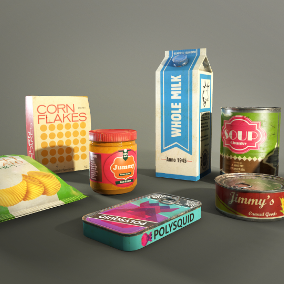 This pack contains food props, done in realistic style