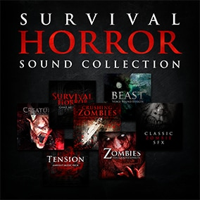 Survival Horror Sound Collection is the ultimate horror bundle with over 1000 sfx and 30 music loops.