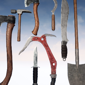 High Quality Collection of 12 Survival Melee Weapons and Tools
