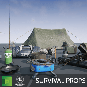 The Survival Props Pack contains 40 props that can be used to start any type of survival game.