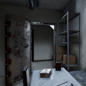 More than 150 Meshes and respective materials to create a bunker or a safe room.