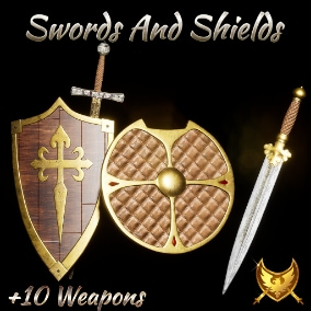 Swords And Shields Weapons Realistic