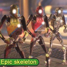 Sword Robot 2 using Epic Skeleton