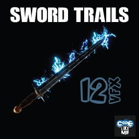 Niagara Based Sword Trail VFX Pack