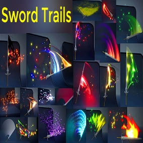 Sword Trails in UE4 Niagara Pack01