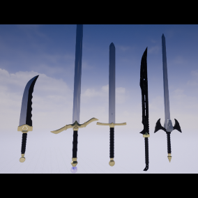 Swords/Knife can be used as a Weapons/Decorations.