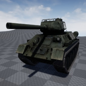 T34 Soviet Medium Tank, 2048x1024 Resolution Textures, Multiple Camo Options