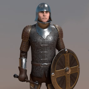 Low-poly-character fantasy character for your RPG Medieval game.