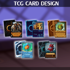 Five different kinds of original TCG card design for your collecting card game.