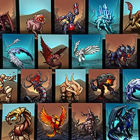 The TCG Fantasy Pack 1 is a set of 30 high quality fantasy card illustrations, including 3 different backgrounds.