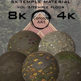 5 AAA quality Temple Materials for all platforms. All Textures have their own 8K,4K,2K and 1K version and ready for every kind of project.