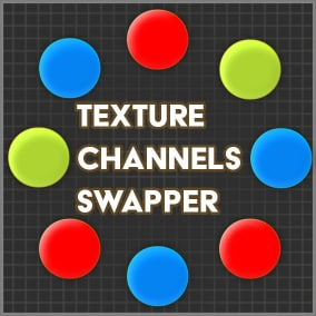 Texture Channels Swapper is the editor tool to quickly process a batch of textures swapping their RGBA channels, tweak namings, change texture resolution, etc.