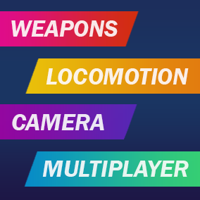 Complex product consisting of weapons system, player's camera, locomotion and multiplayer logic.