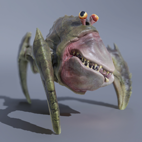 ***Included Inside Sci Fi Creatures Vol 1*** This creature will be a perfect fit for any Sci Fi project in need of a weird alien enemy to shoot at.