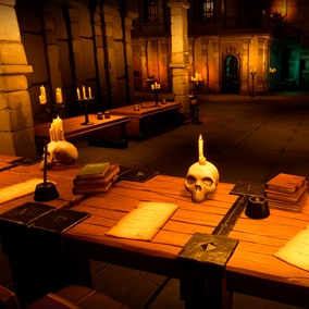 You can diversify your level with additional furniture props and other objects of this pack.
