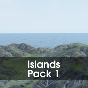 This pack contains 16 high-quality realistic terrains in island shapes.