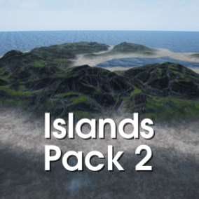 This pack contains 16 high-quality realistic terrains in island isle shapes.