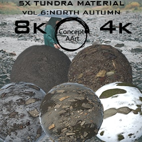 5 Super Realistic Tundra Materials for all platforms. All Textures have their own 8K,4K,2K and 1K version and ready for every kind of project.