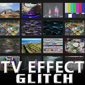 16 TV glitch effect materials