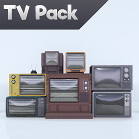 This asset package contains models of several TV sets.
