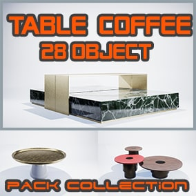 Package of realistic Table Coffee Vol 1. With 28 unique meshes including 28 materials and textures PBR manually baked