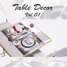 high quality set of plate for dinning table decoration