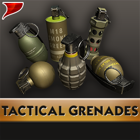 This is a pack of Tactical Grenades, This Pack includes Models, textures, materials, VFX, SFX and animations.