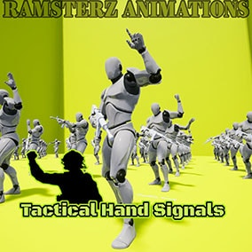 Collection of tactical hand signals for Rifle and Pistol poses