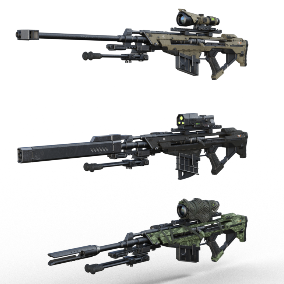 Animated Ultra High Quality Tactical Sniper Rifle, with VFX and SFX