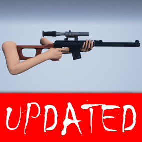 Most realistic Tactical Sniper Rifle fully rigged/animated with 4k textures.