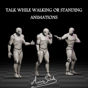 Collection of talking animations while walking or standing