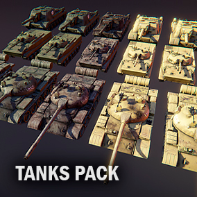 Here you will find Animated, movable, and static variants of three tank Meshes.