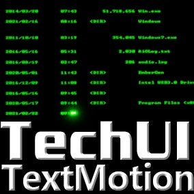Easy way to enhance the screen props or user interface by this text animation materials.