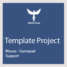 Create a new project with gamepad and mouse support for the interface, localization, and more ...
