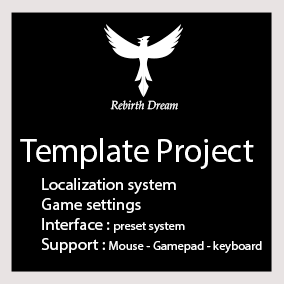 Create a new project with gamepad / keyboard and mouse support for the interface, localization, and more ...